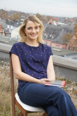 Annika Kemmeter auf dem Dach-Stuhl