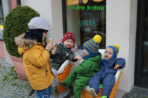 Eisessen in Lindau