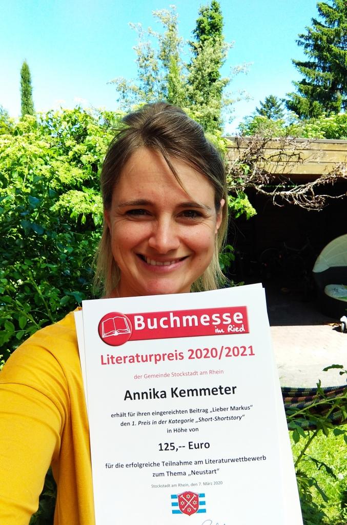 Annika Kemmeter Literaturwettbewerb 1. Platz